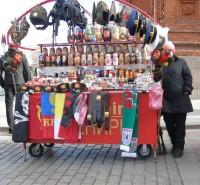 Gift market near Red Square, Moscow, 2009