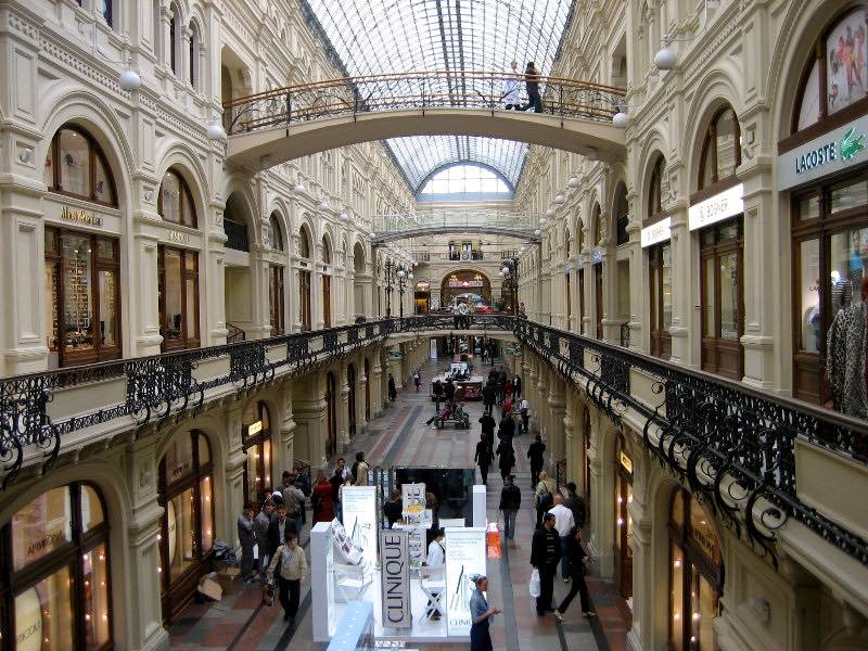 Shopping in Moscow - GUM Galleries